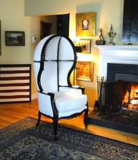 Antique Downton Dome Hearth Fireplace Chair Abbey w/ Classic