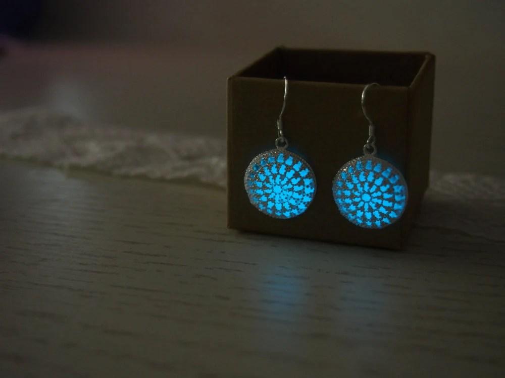 Glowing Earrings 'Glow in the dark' Earrings