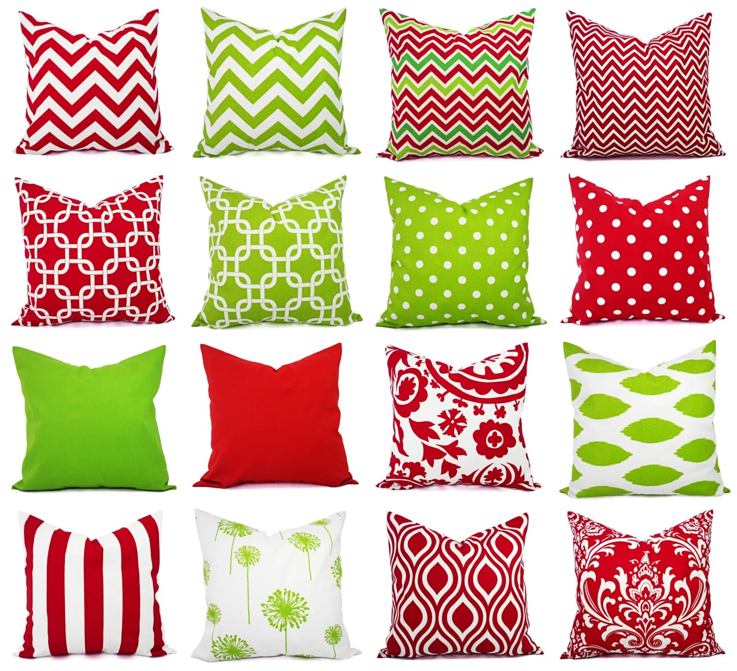 Cushion Covers Christmas Holiday Pillow Covers Christmas Pillows Red And Green