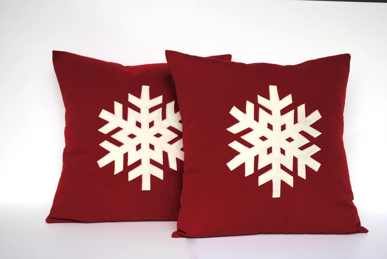 Cushion Covers Christmas Two Snowflake Christmas Pillow Covers By Thatdutchgirlpillows
