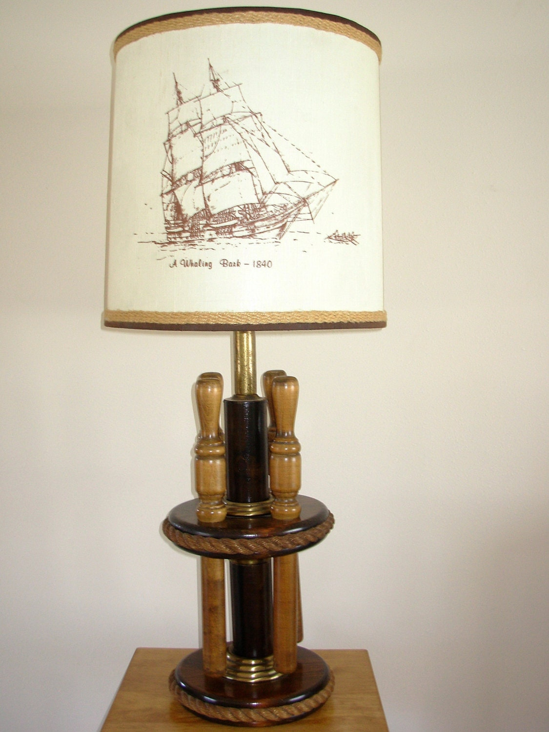 Lighthouse Touch Lamp Vintage Milford Guild Nautical Lamp With Belaying Pins