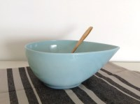 Fire King Blue Teardrop Mixing Bowl