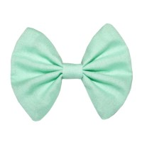 Mint Green Hair Bow Pastel Fabric Hairbow Bow Tie Clip