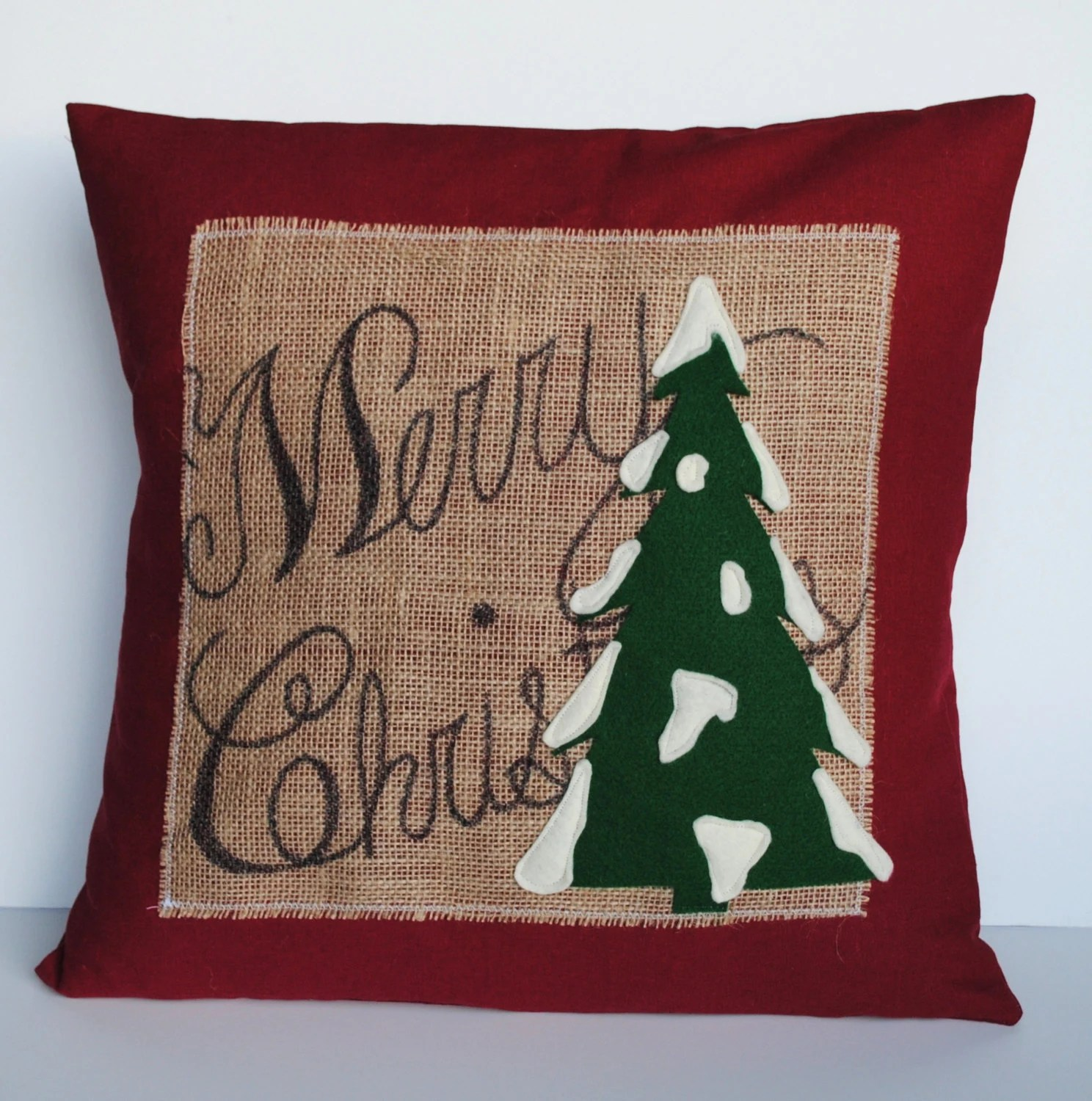 Cushion Covers Christmas One 39merry Christmas 39 Tree Pillow Cover By