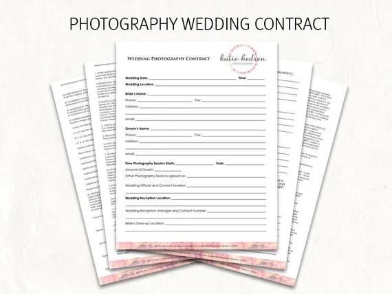 Wedding contract wedding photography contract template - wedding contract template