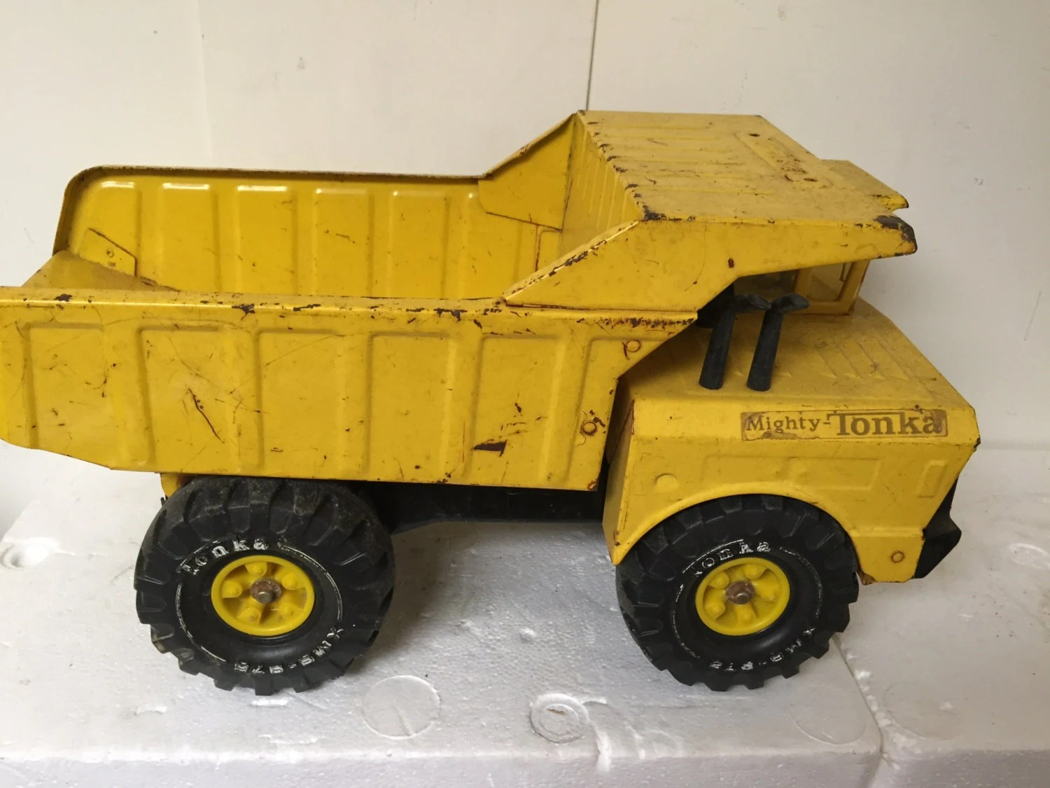 Mighty Vintage Vintage Big Yellow Mighty Tonka Dump Truck By Shaysrevival