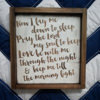 Now I lay me down to sleep Rustic Nursery Wall Art by ...