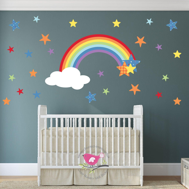Magical Rainbow Wall Decal Star Wall Stickers Boy Or Girl