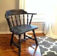 Painted Antique Low Backed Captain's Chair by MandyFitzArt ...