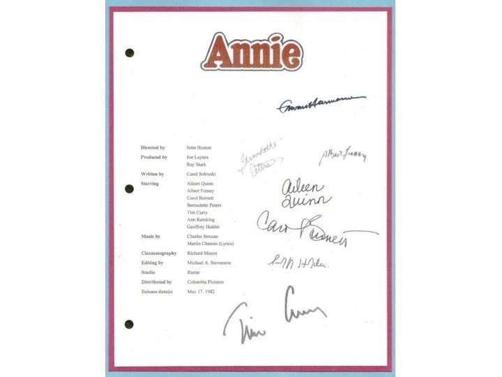 Annie Movie Script \u2013 Best Cars 2018