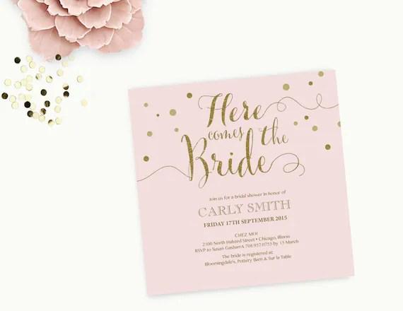 Word Template Bridal shower Invitation Editable Word - bridal shower invitation templates for word
