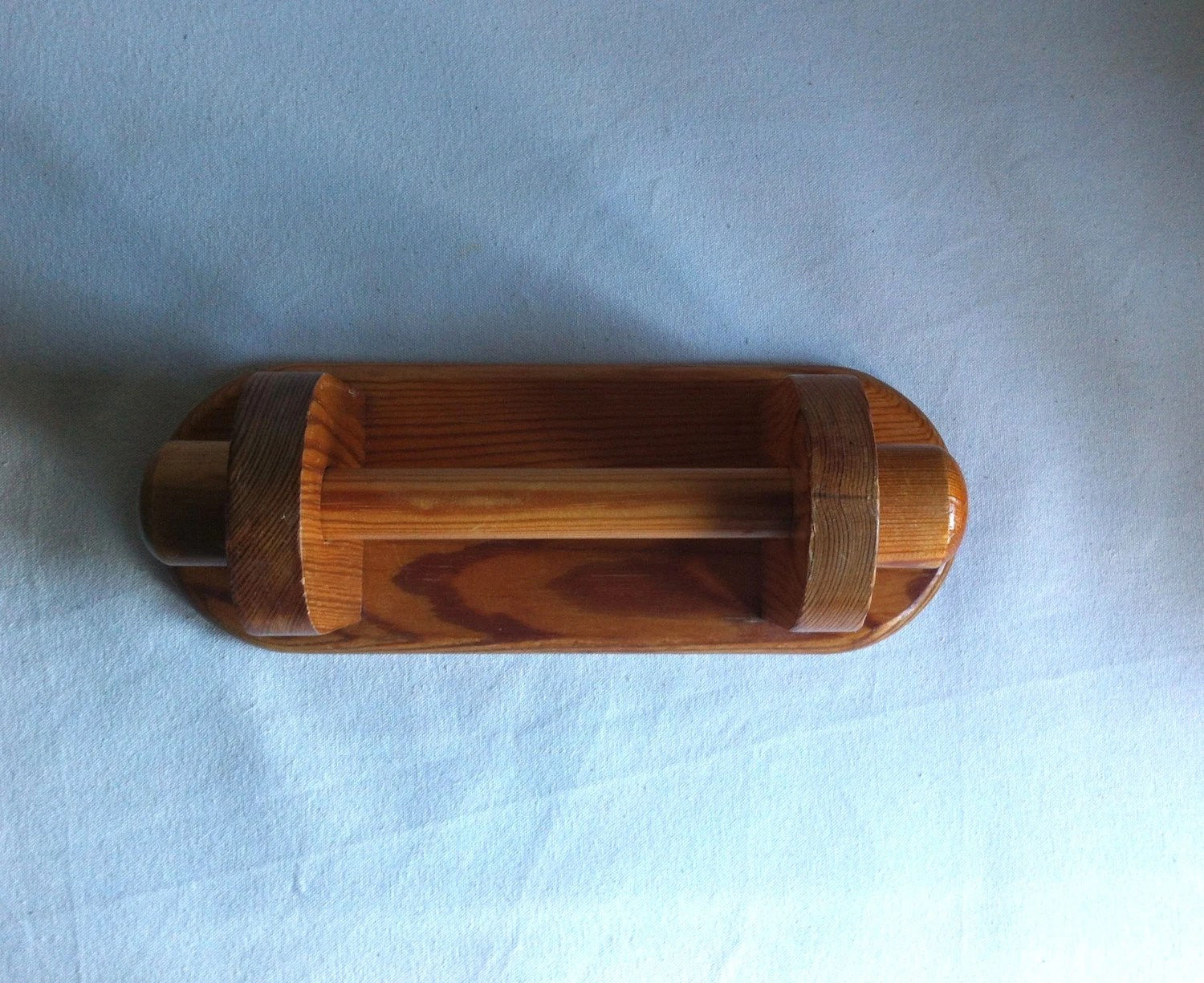 Wood Toilet Roll Holder Vintage Pine Wood Wall Mounted Toilet Roll Holder By