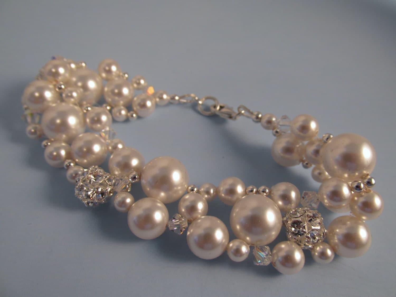 Swarovski Crystal Pearl Bracelet Pearl Bracelet Crystal