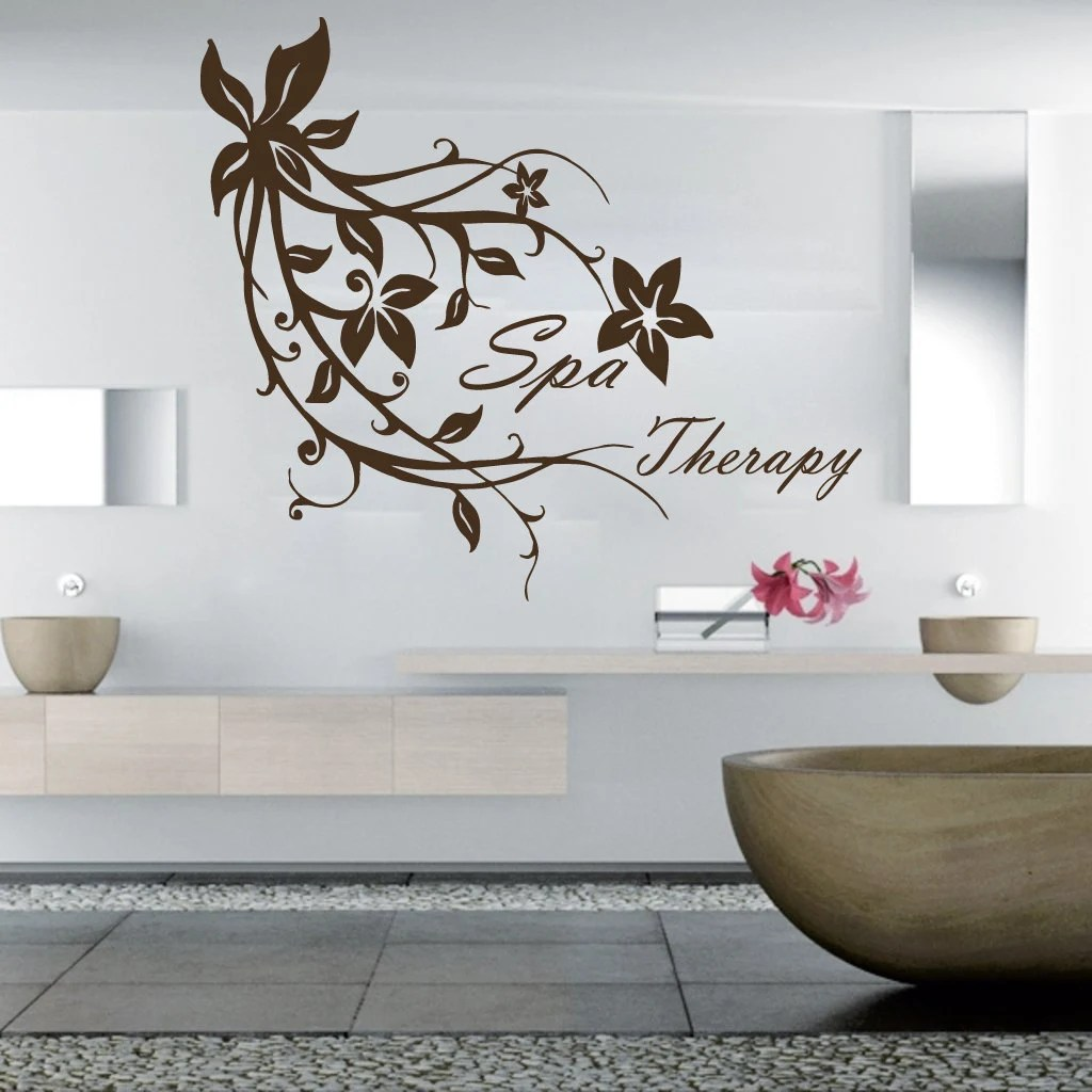 Wall Decals Spa Therapy Flowers Branch Decal Vinyl Sticker SPA