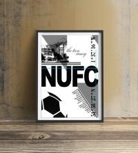 Newcastle United FC Print Wall art print Newcastle Football