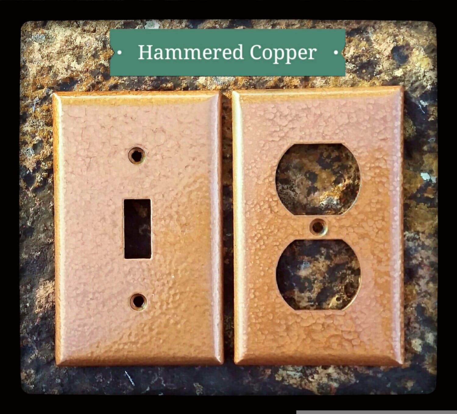 Copper Light Switch Plates Hammered Copper Wall Plates Switch Outlet By Thebarkinggoose