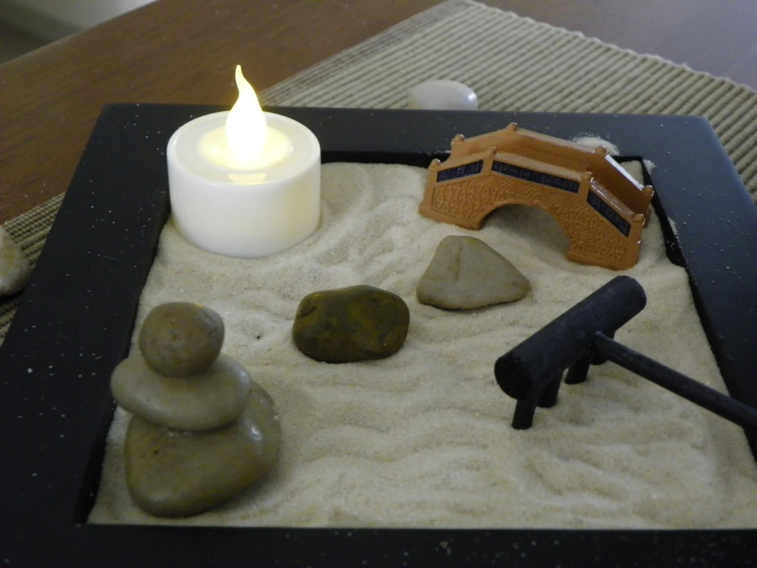 Office Zen Garden Miniature Zen Garden With Hand Balanced Meditation Stones