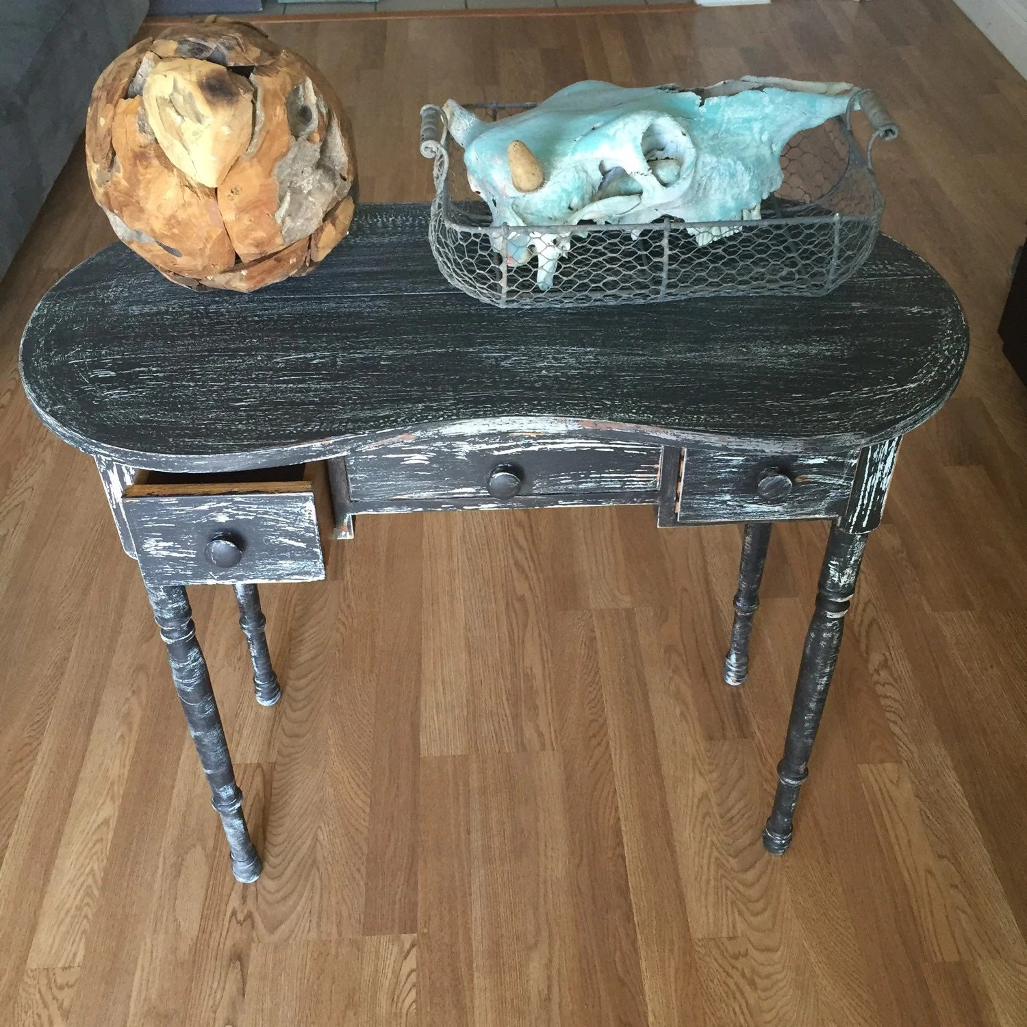 Sofa Table French Country Shabby Chic Desk Black White Shabby Chic Sofa Table