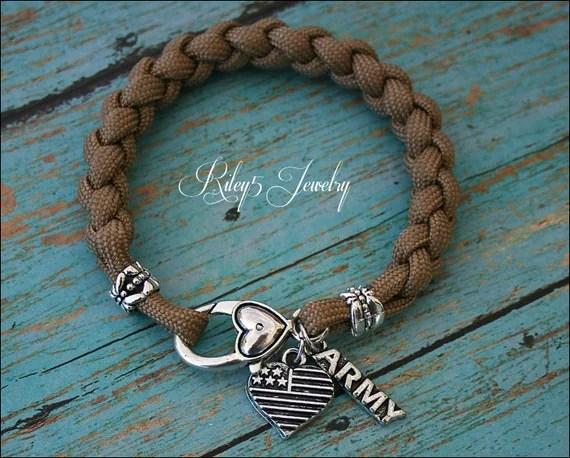 Bracelet Army Wife Army Girlfriend Army Mom I Love My