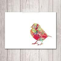 PRINTABLE ART Bird Art Print 5x7 Sparrow by DreamBigPrintables