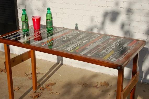 Folding Hockey Stick Table