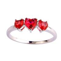 8 Bit Hearts Ring Engagement Ring Promise Ring Wedding Ring