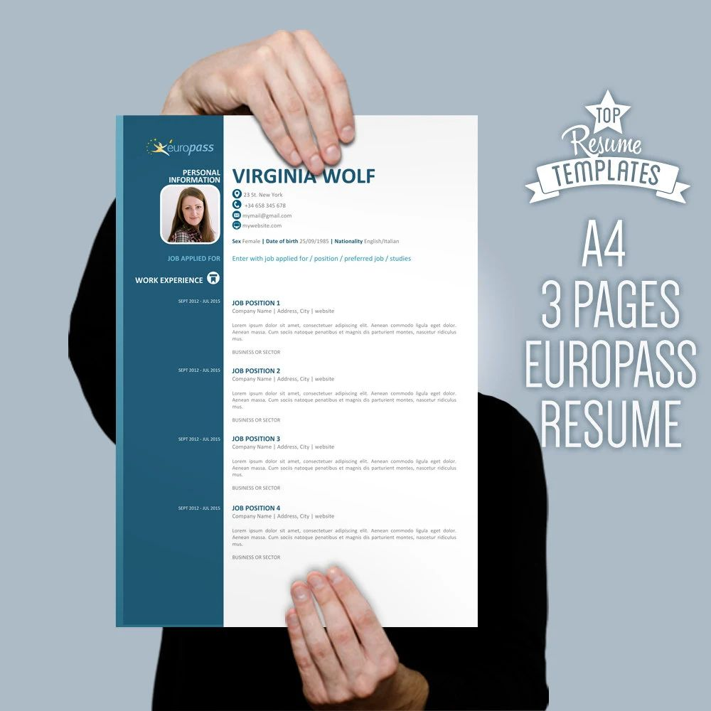 europass english cv
