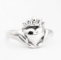 Claddagh Ring Small With or Without a stone Promise Ring