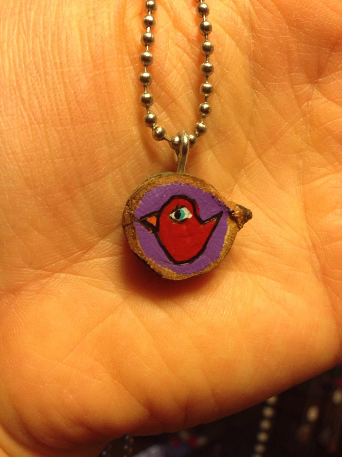 Little bird – twig pendant