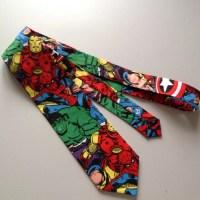 Ready to ship Superhero Ties Men's Necktie avengers