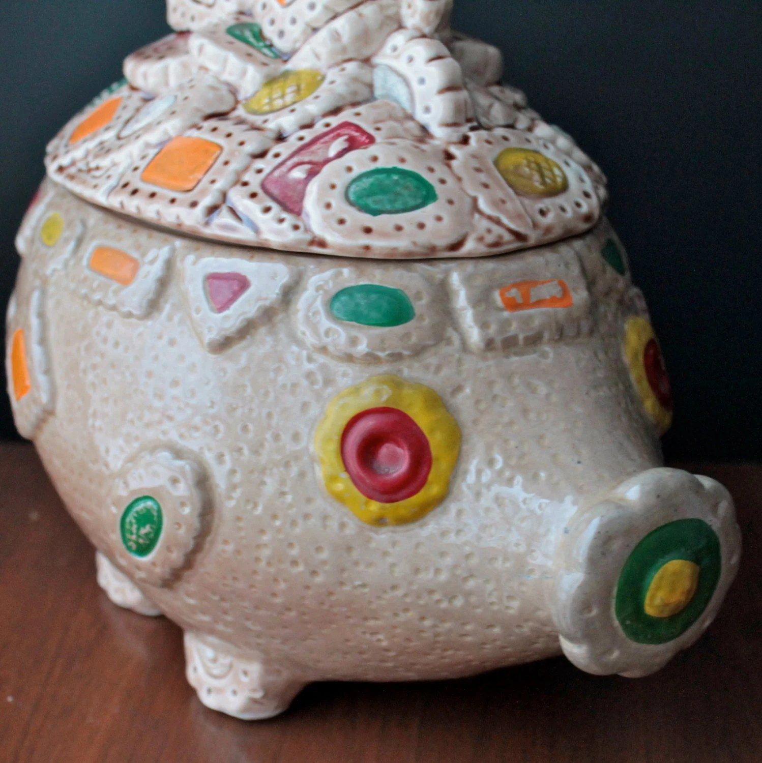 Modern Cookie Jar Pig Cookie Jar Vintage Japanese Ceramic Canister By