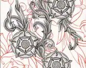 SALE! Black Tudor Rose, O...
