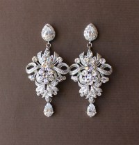 Wedding Chandelier Earrings Crystal Bridal Earrings by ...