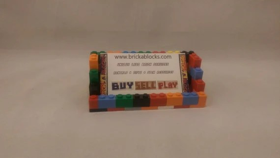 A basic business card holder gifts and accessories with lego bricks lego built business card holder reheart