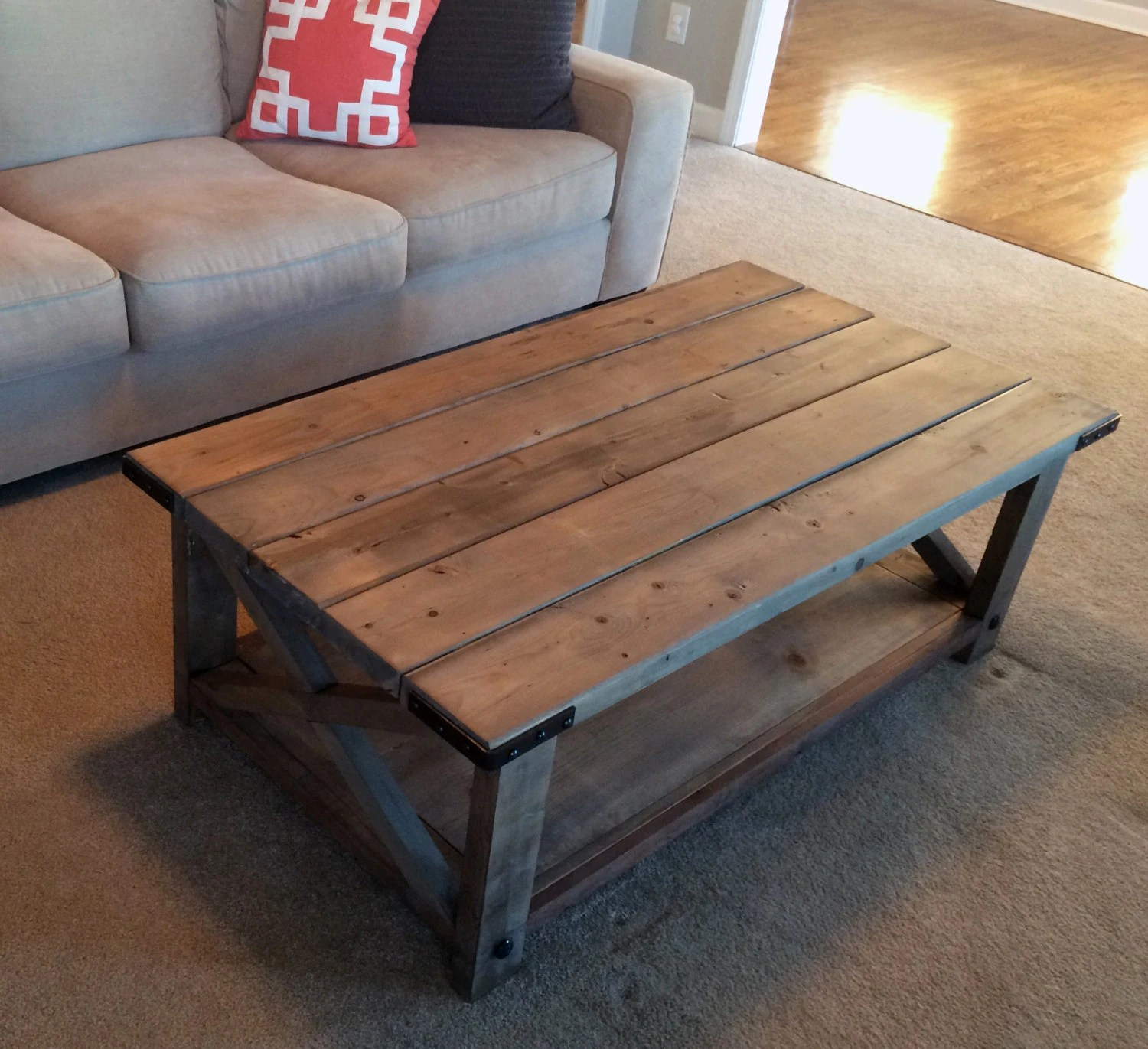 Farmhouse Coffee Table Etsy Farmhouse Coffee Table Weathered By Thechicnshabbybean On Etsy