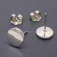 Fake Plug Gauge Earrings White Studs 14 Gauge 16 Gauge