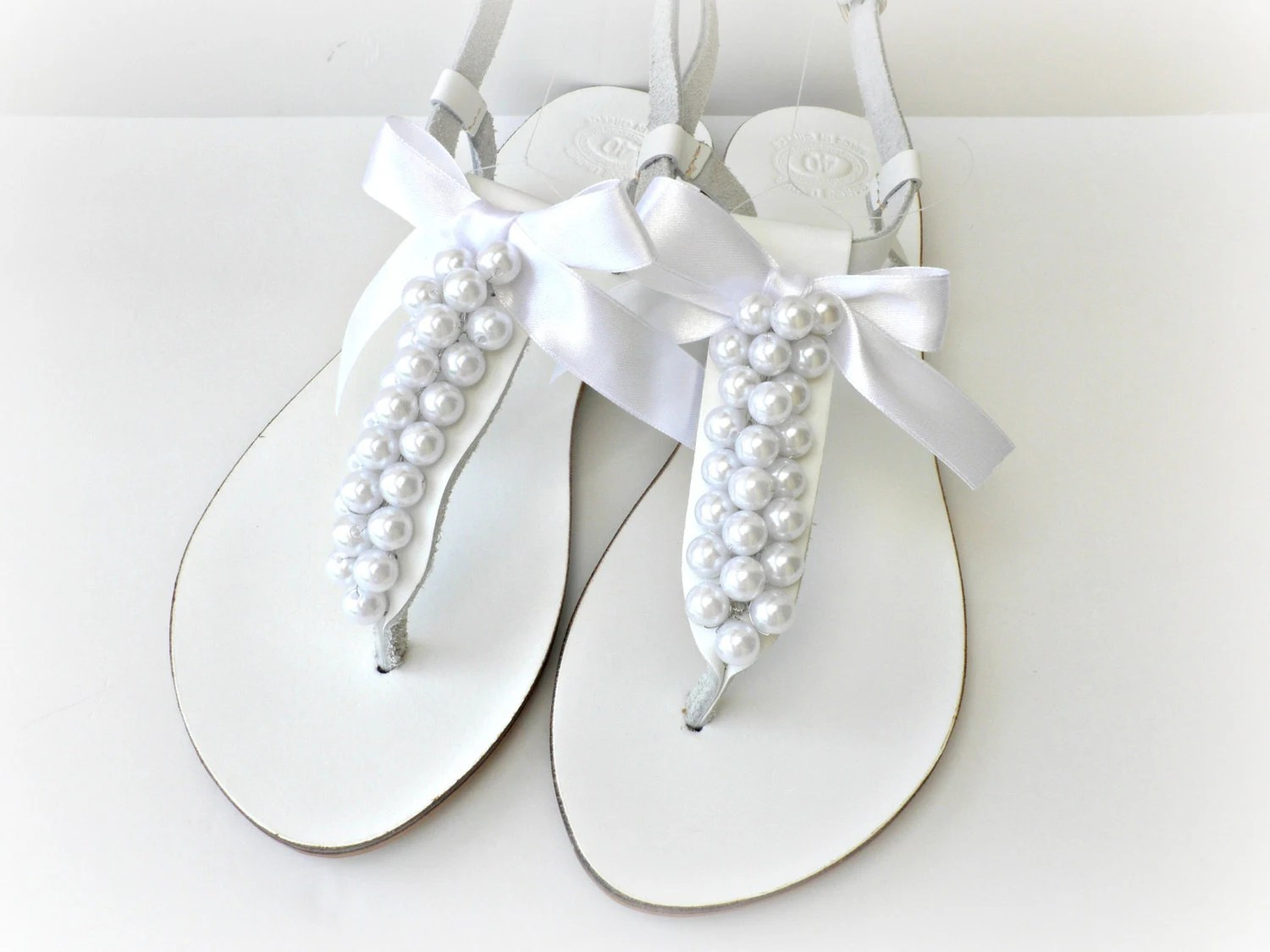 wedding leather sandals white sandals wedding slippers zoom