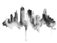 Kansas City Skyline Print Watercolour Wall Art Modern