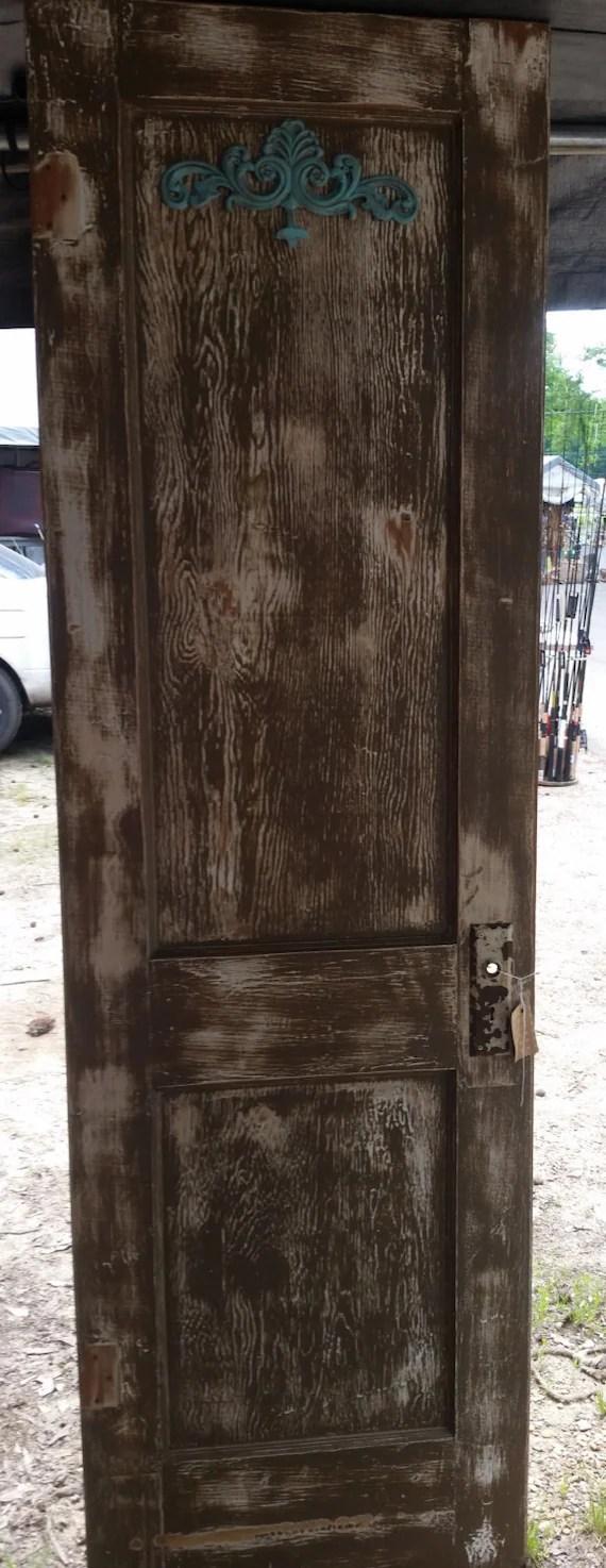 Vintage Distressed Door W Coat Rack By Thehenhousetexas
