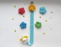 Free Crochet Pattern Pacifier Holder ~ Dancox for