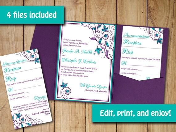 pocketfold wedding invitation insert template - 28 images - wedding