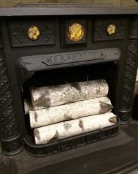 Decorative White Birch Fireplace Logs Quantity of 6