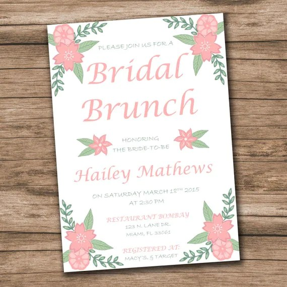 Bridal Shower Invitation Template Download Instantly - invitation templates microsoft word