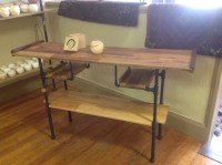 Black Pipe Console Table