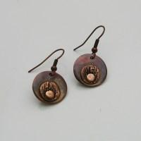 Copper Earrings Handmade Copper Earrings Copper Dangle