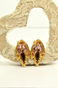 Jewel Tone Vintage Earrings