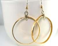 Gold Hoop Earrings Extra Large Hoops Large Hoops Hammered