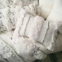 Moroccan Wedding Blanket Pillow // handmade from by viaMelinda