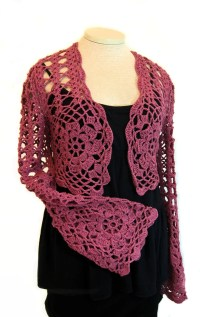 Crochet Shawl Pattern With Sleeves ~ Dancox for