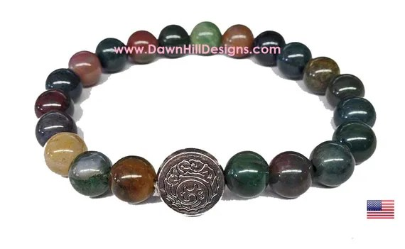 Natural Bloodstone Crystal Healing Bracelet Men39s Or